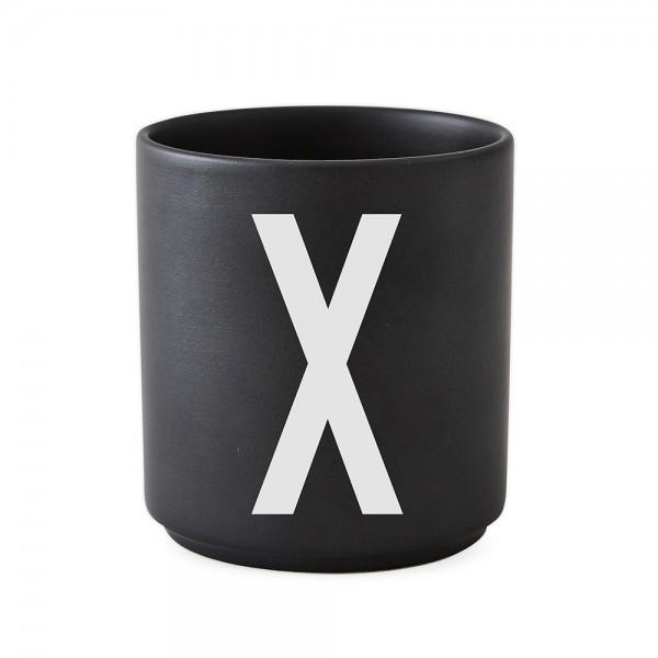 Design Letters Porzellanbecher schwarz X