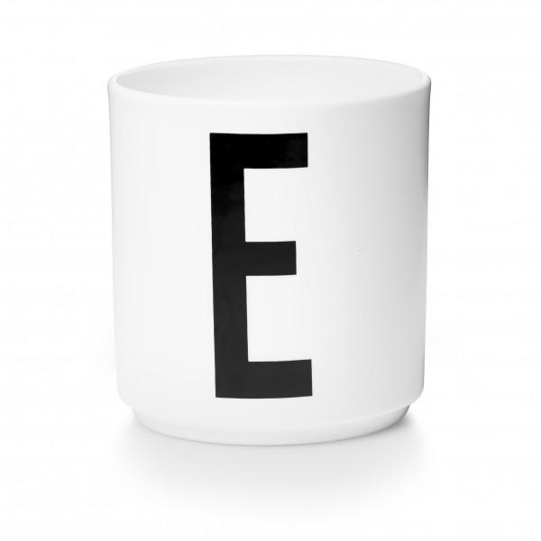 Design Letters Porzellanbecher weiß E