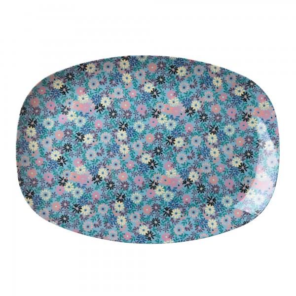 RICE Melamin Platte SMALL FLOWER Rectangular