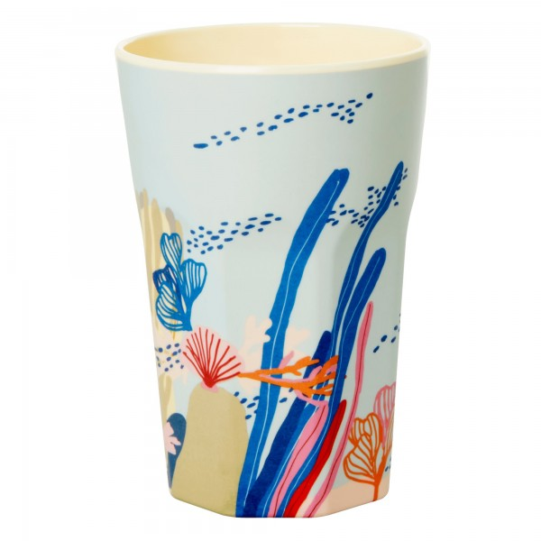 RICE Melamin Becher CORAL Tall