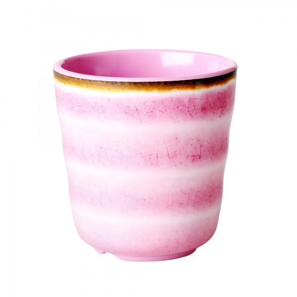 RICE Melamin Becher SWIRL Pink