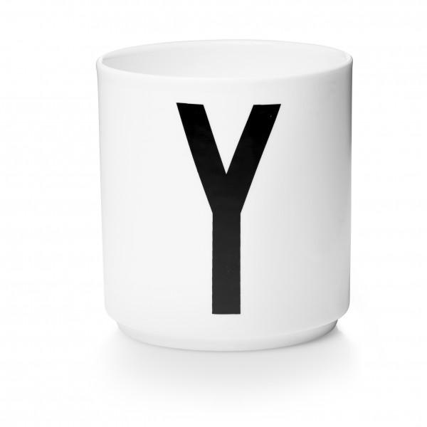 Design Letters Porzellanbecher weiß Y