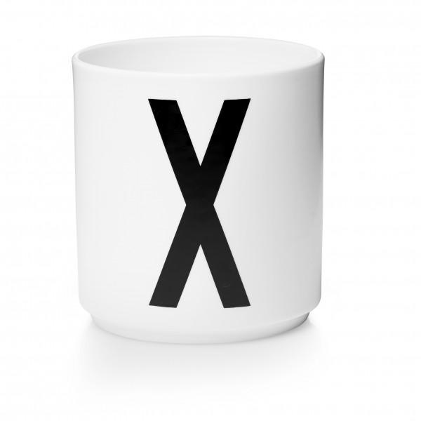 Design Letters Porzellanbecher weiß X