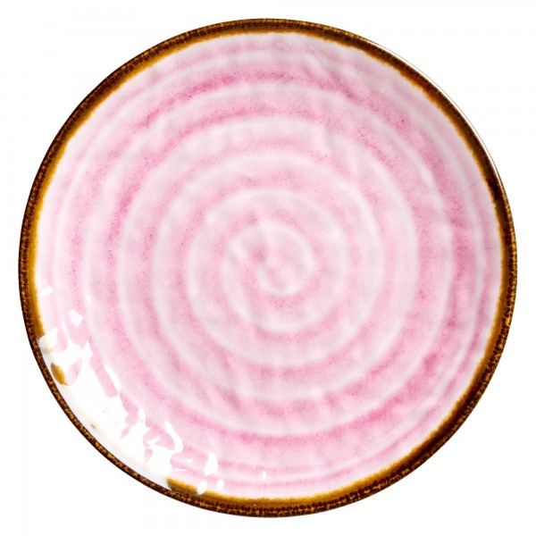 RICE Melamin Teller SWIRL Pink