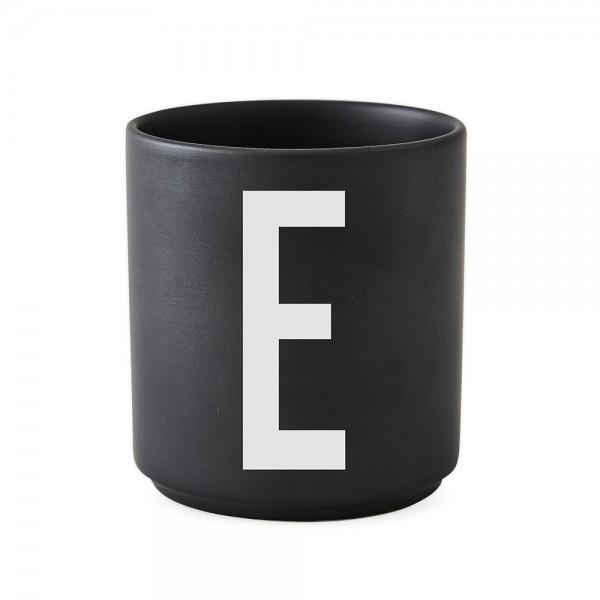 Design Letters Porzellanbecher schwarz E