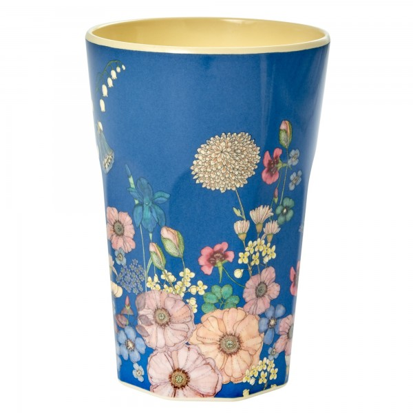 RICE Melamin Becher FLOWER COLLAGE Tall