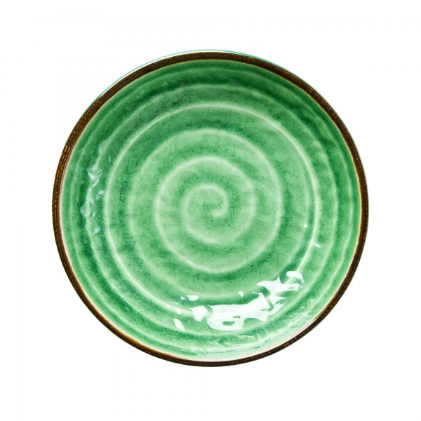 RICE Melamin Pasta Teller SWIRL Green